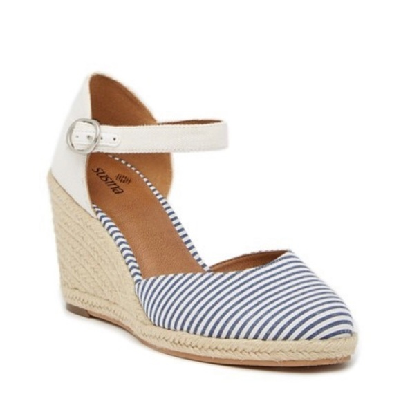 be699b4e149 Susina- Lily Ankle Strap Wedge Sandal- Size 8.5 NWT